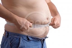 Stock photos fat waist