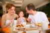 Stock family eating